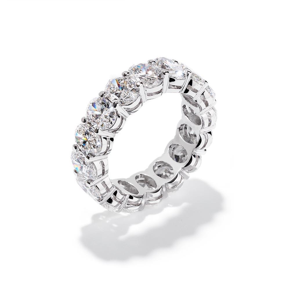 Oval Diamond Eternity Wedding Band