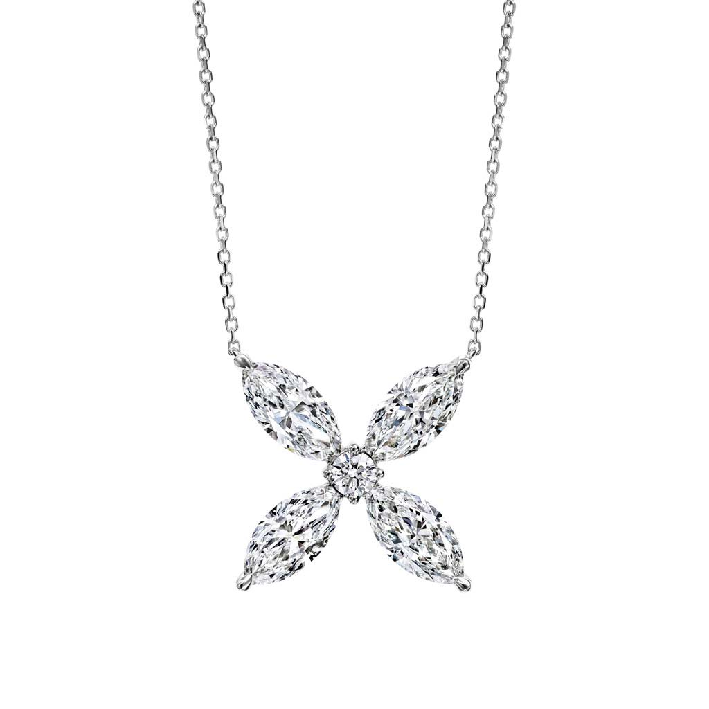 Marquise Petals Diamond Pendant