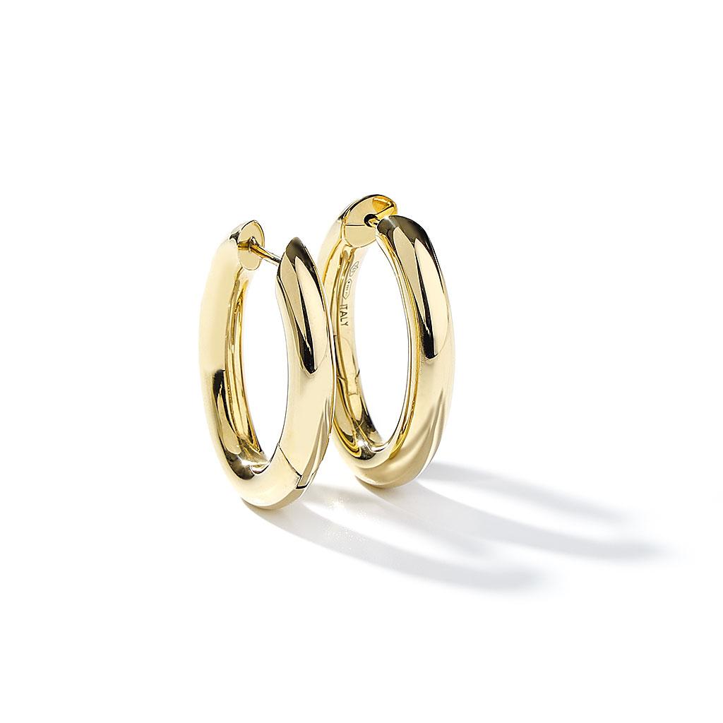 Gold Oval Hoop Earrings