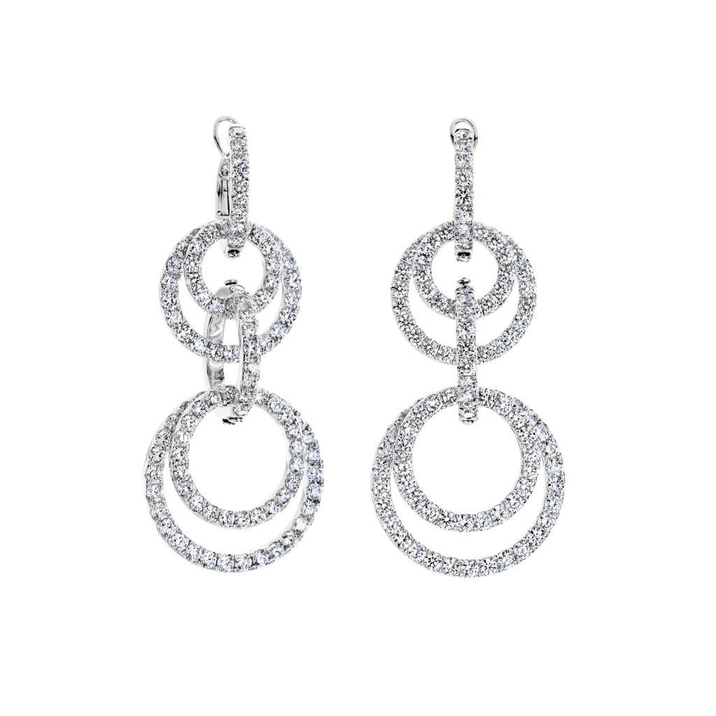 Circle Link Drop Earrings