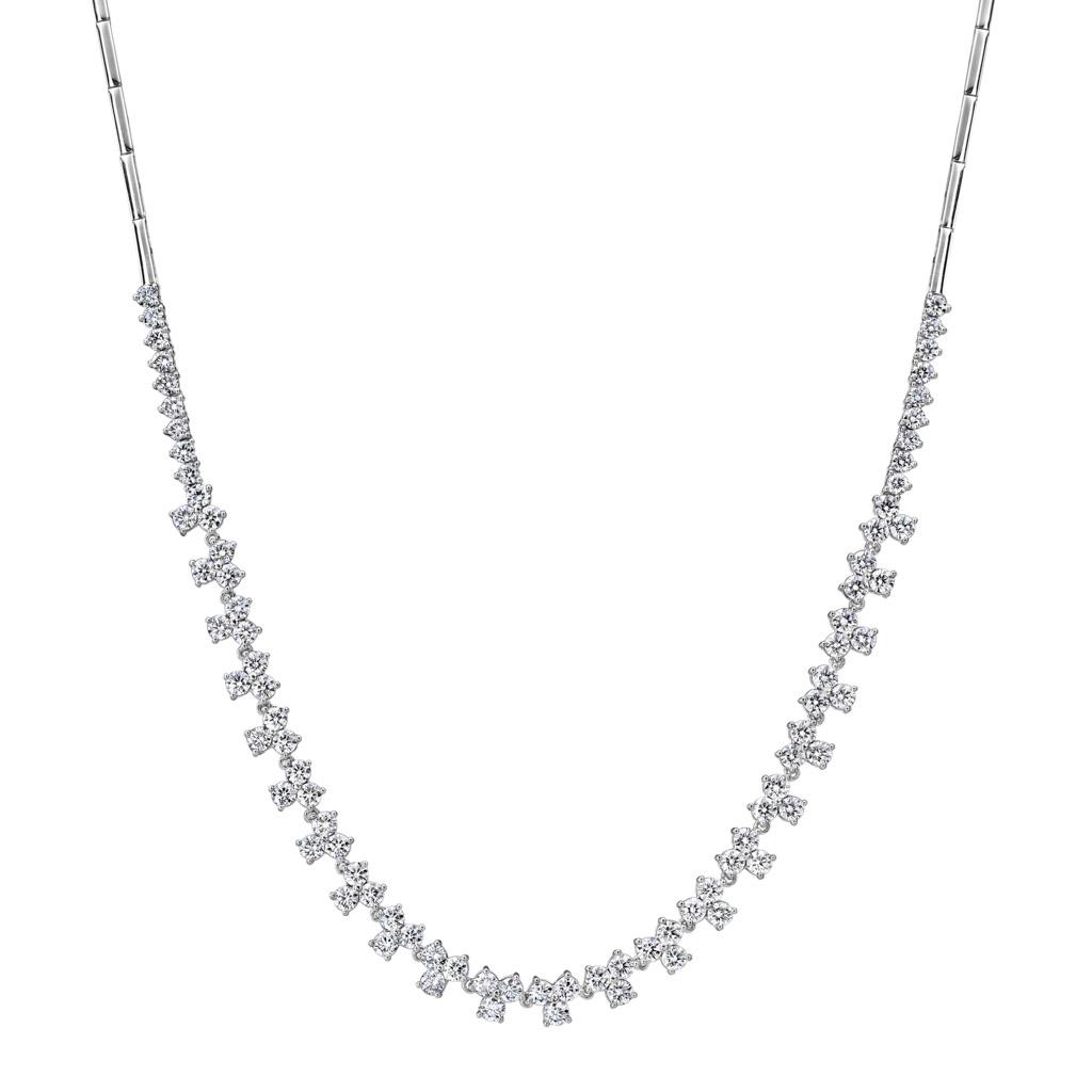 Cluster Diamond Necklace