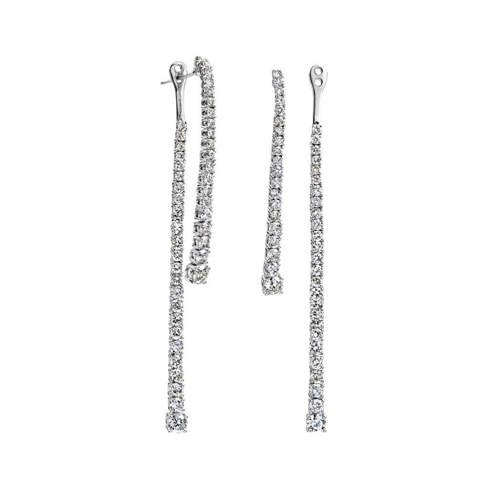 Interchangeable Diamond Dangle Earrings