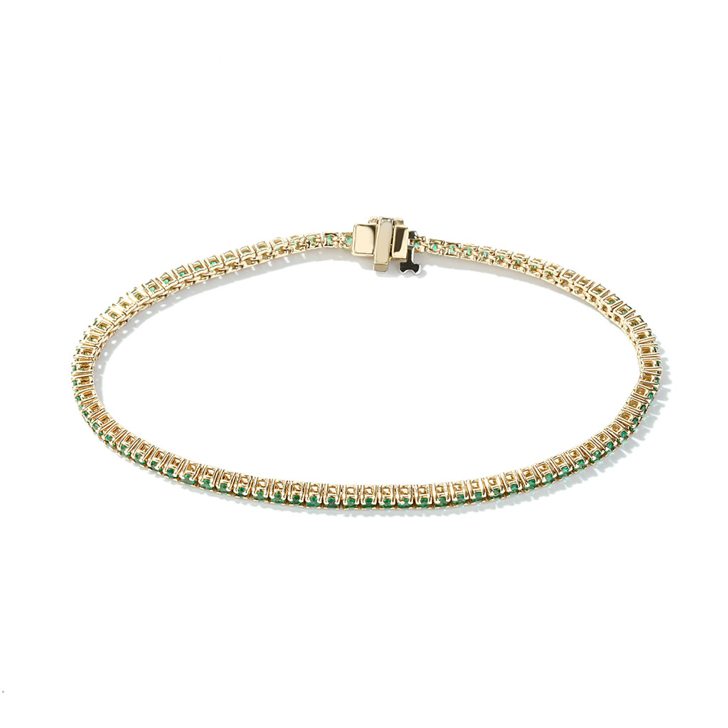 Delicate Emerald Emerald Bracelet