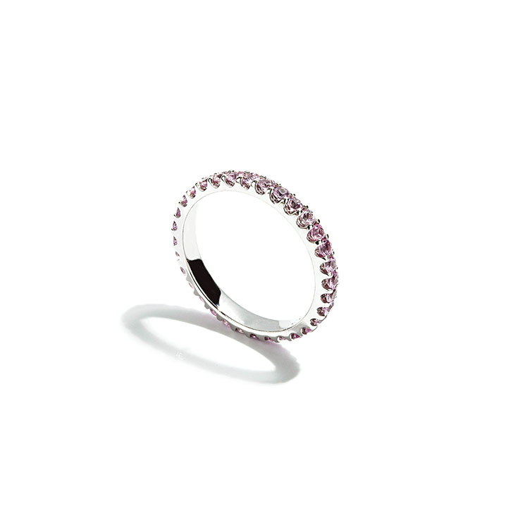 Shared Prong Pink Sapphire Eternity Ring