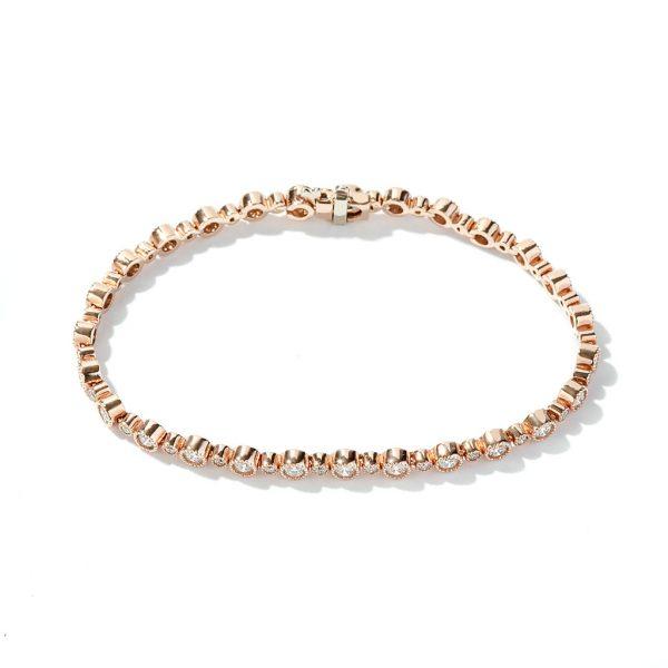 Bezel Tennis Diamond Bracelet