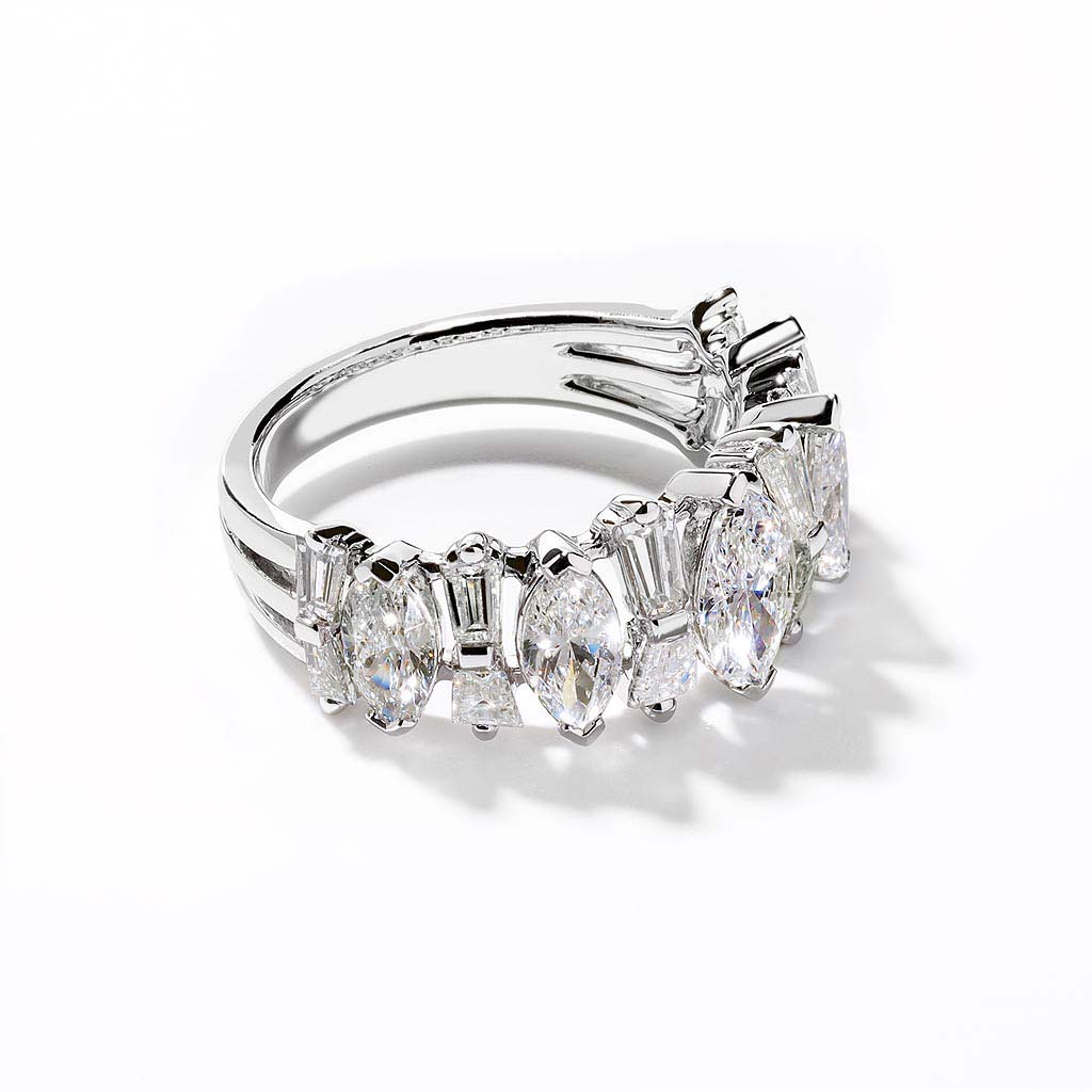 Marquise and Tapered Baguette Band