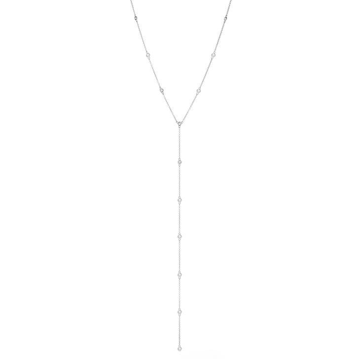 Deep Y Lanyard Diamond Necklace