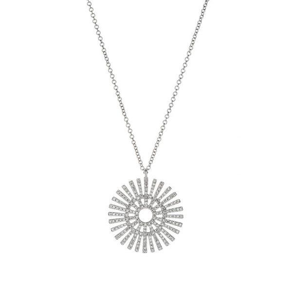 Sun Disk Diamond Pendant