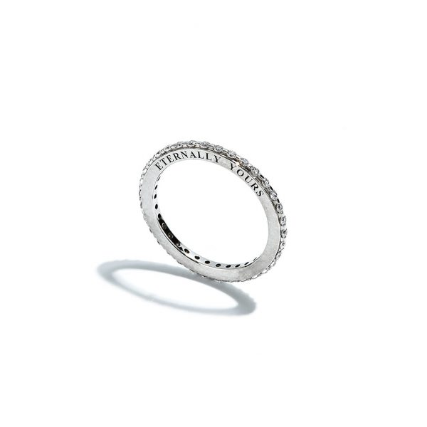 Eternaly Yours Engraved Diamond Eternity Ring