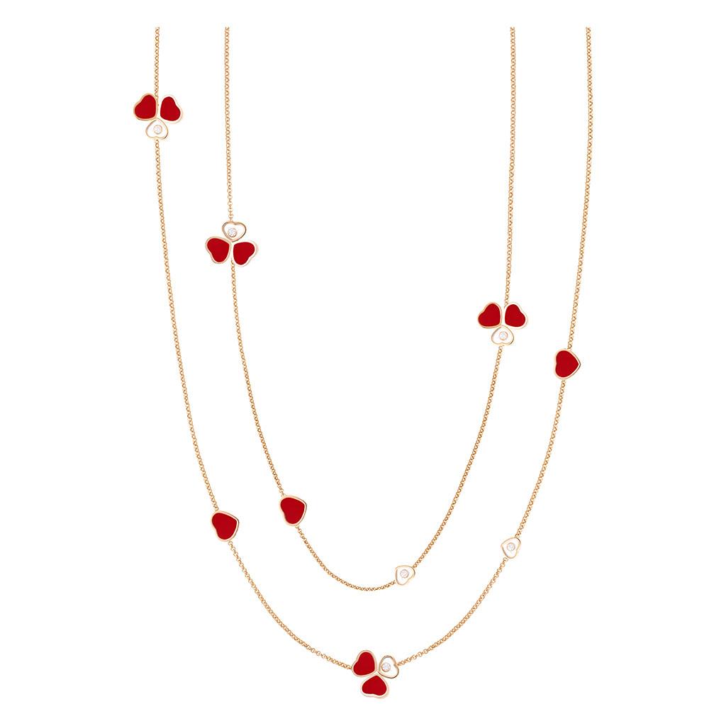 Happy Hearts Wings Sautoir Necklace