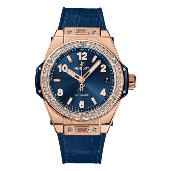 Big Bang One Click King Gold Blue Diamonds Watch