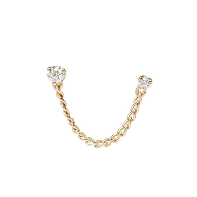 Linked Diamond Earrings