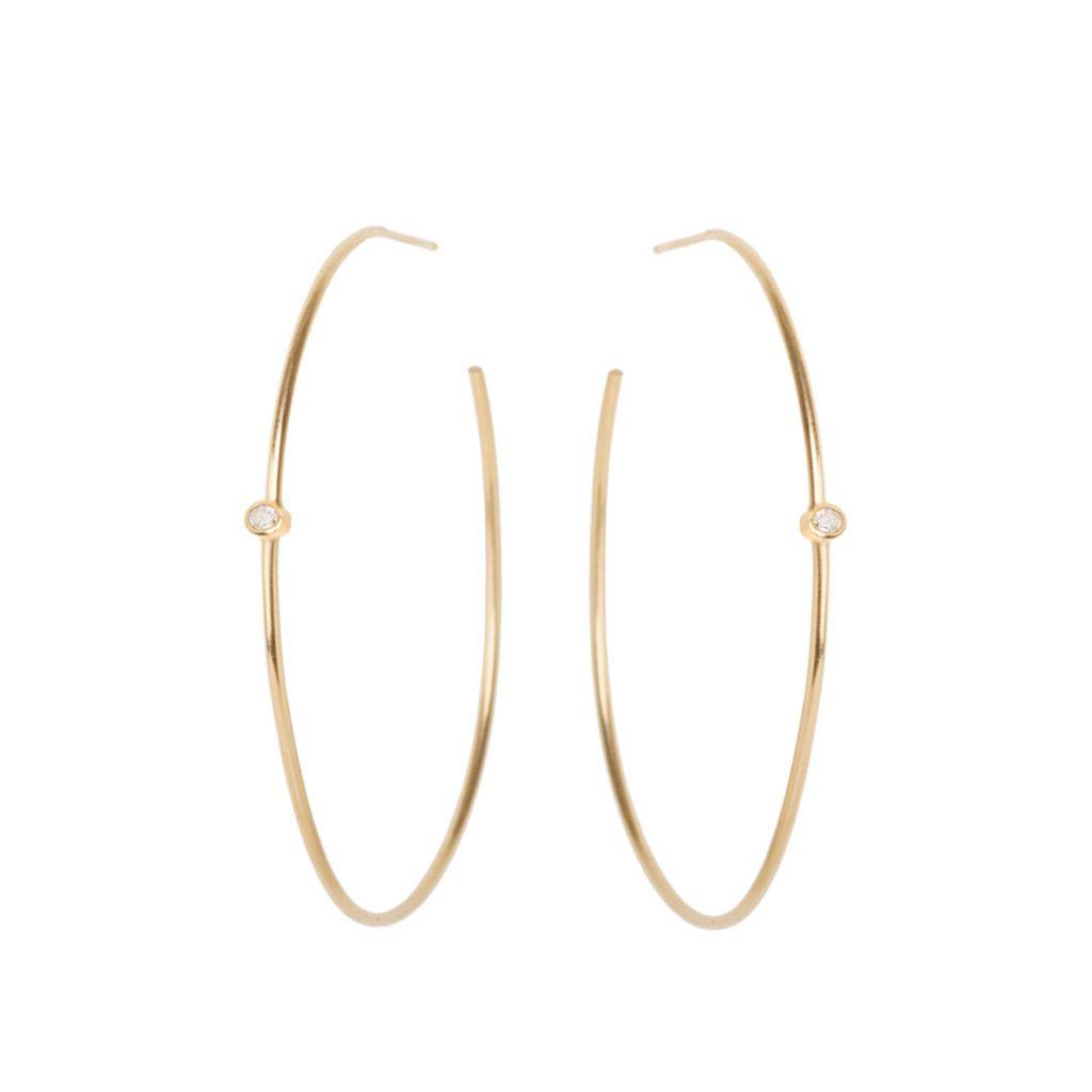 Hoops Diamond Earrings
