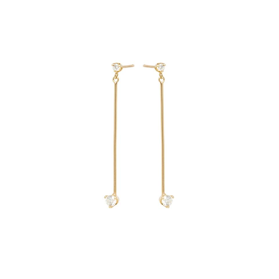Long Stick Diamond Earrings