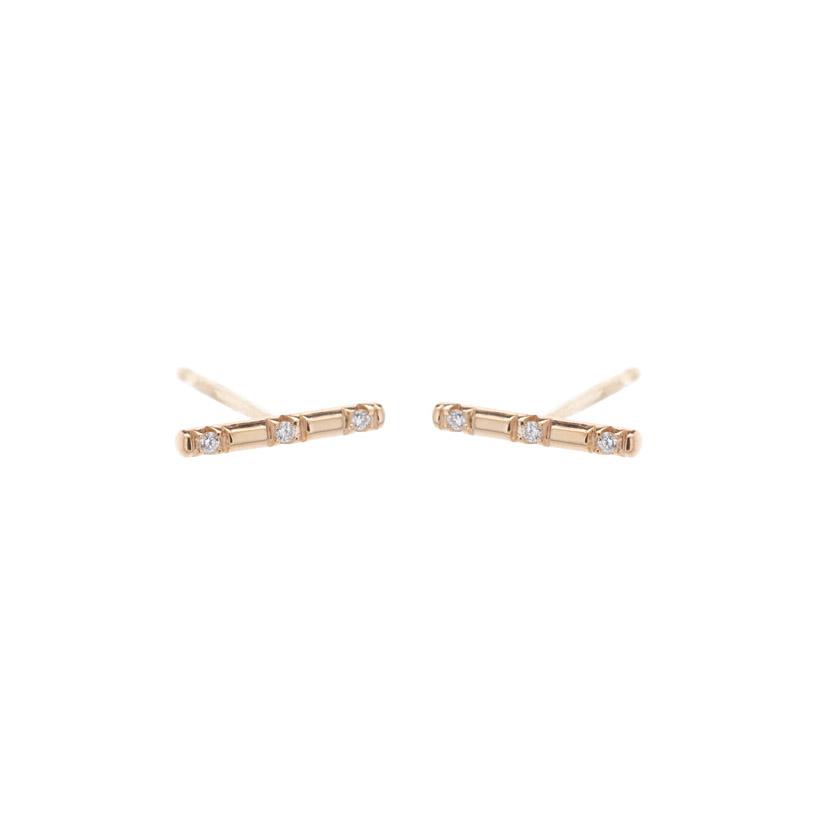 Small Bar Diamond Earrings