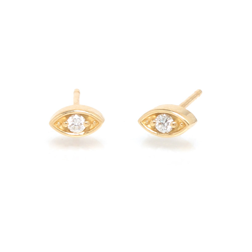 Evil Eye Diamond Earrings