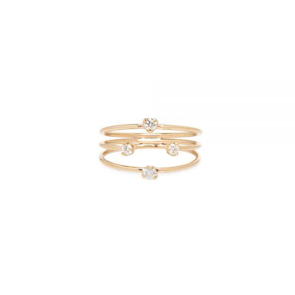 3 Strand Diamond Ring