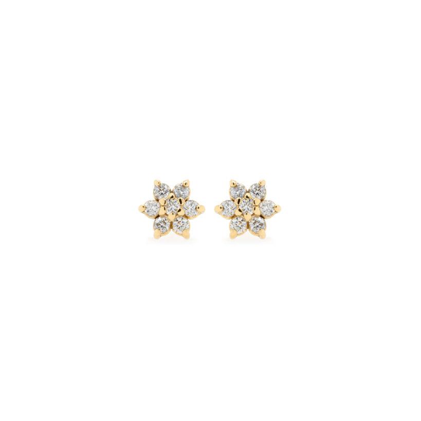 Small Flower Diamond Earrings